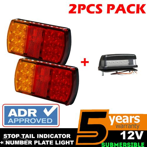 pg4752744909515850215 pair 12v led tail light stop brake lights waterproof trailer plus  at alyssarenee.co