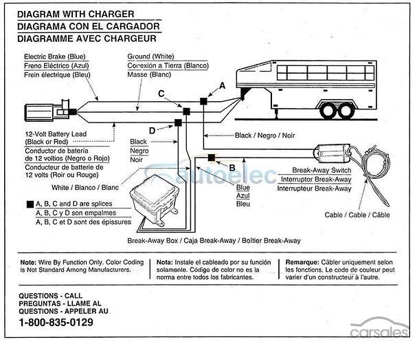 car trailer wiring diagram with breakaway wiring diagram schematic